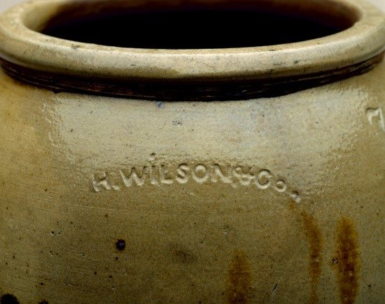 H. Wilson & Company Jar - William J. Hill Texas Artisans and Artists Archive.